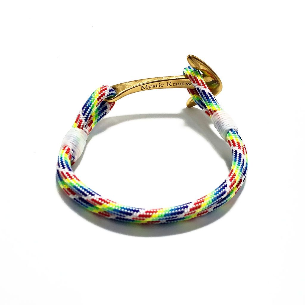 Rainbow Nautical Anchor Bracelet Brass 137