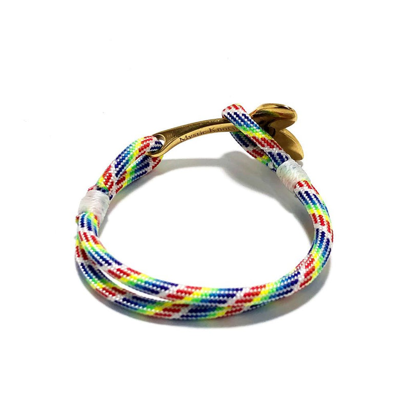 Rainbow Nautical Whale Tail Bracelet Brass 137