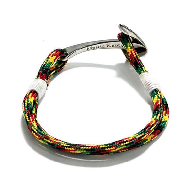Nautical Knot Rasta Nautical Anchor Bracelet Stainless Steel 191 handmade at Mystic Knotwork