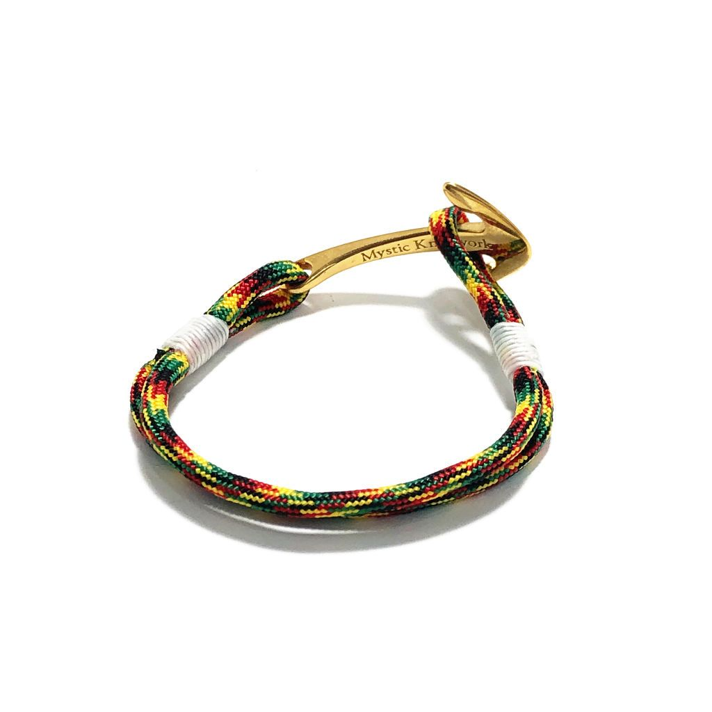 Rasta Nautical Anchor Bracelet Brass 191