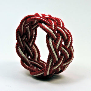 Wide Striped Sailor Knot Bracelet - Mystic Knotwork  - 13