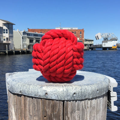 Nautical Knot Large Cotton Monkey Fist Knots for Wedding Table Numbers handmade at Mystic Knotwork