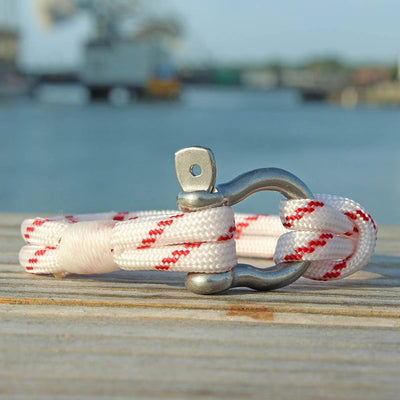 Red Stripe Nautical Shackle Bracelet 164