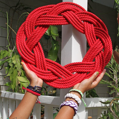 Sailor Knot Wreath or Centerpiece, Red