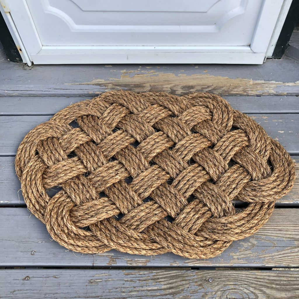 Woven Nautical Entry Rug, Round Door Mat