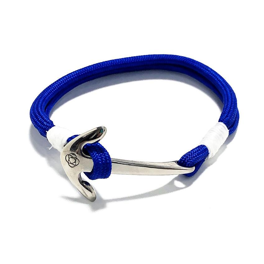 Nautical Anchor Bracelet Royal Blue handmade by Mystic Knotwork
