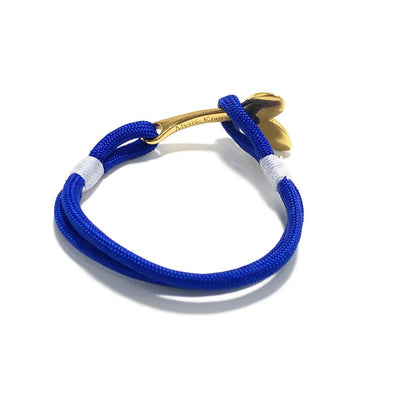 Royal Blue Nautical Whale Tail Bracelet Brass 029