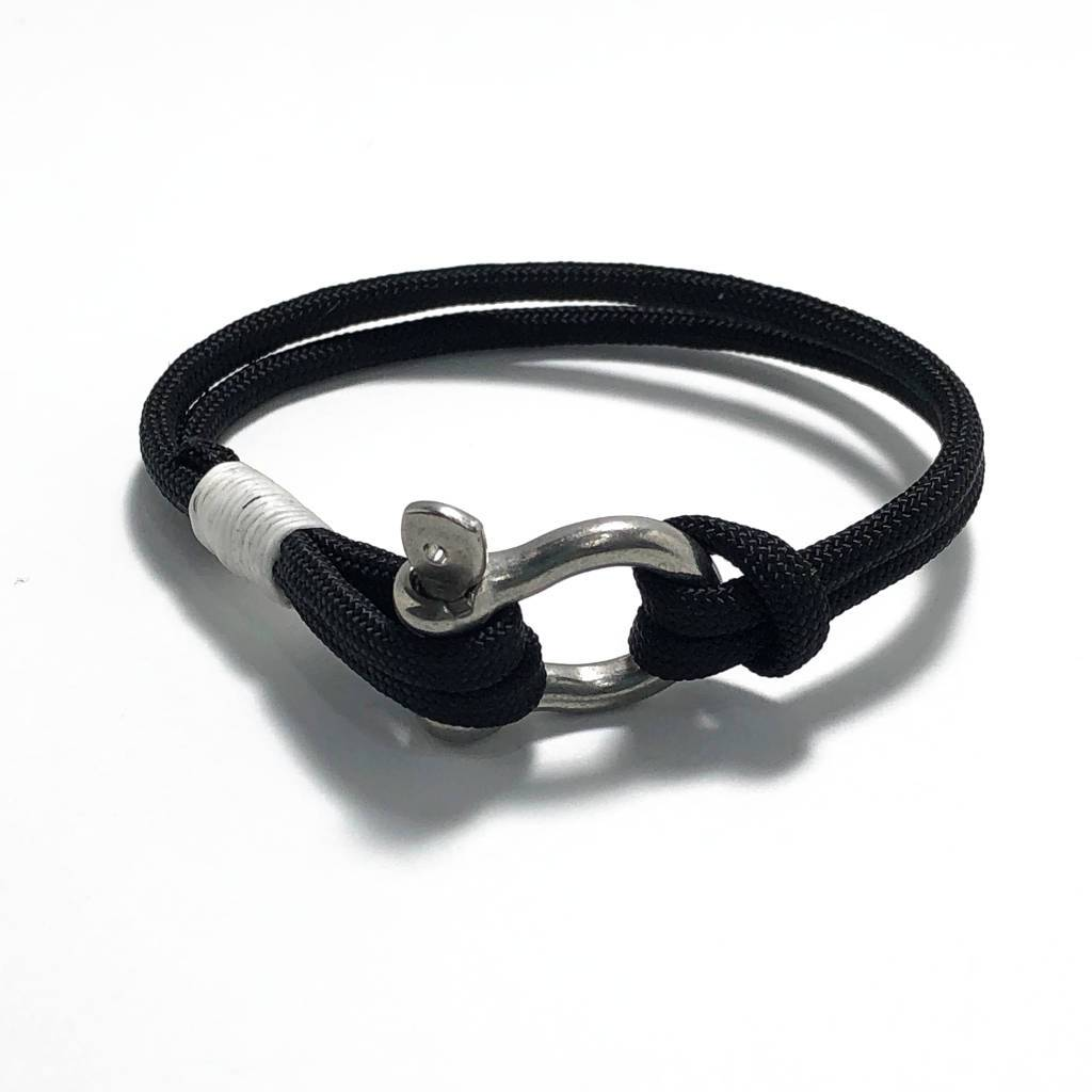 Nautical Black Nautical Shackle Bracelet 002 Handmade sailor knot American Made in Mystic, CT $ 16.00