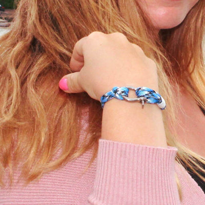 Blue Ice Nautical Shackle Bracelet 074
