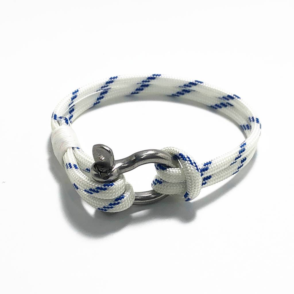 Blue Stripe Nautical Shackle Bracelet 165