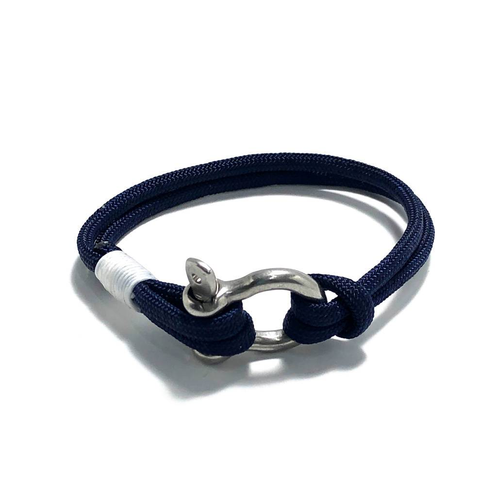 Navy Blue Nautical Shackle Bracelet 020