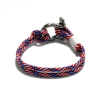 Patriotic Nautical Shackle Bracelet 187