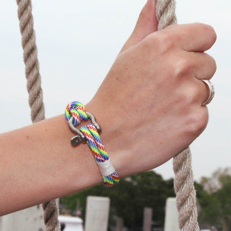 Rainbow Nautical Shackle Bracelet 137