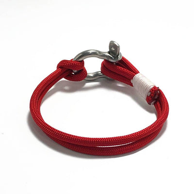 Red Nautical Shackle Bracelet 028