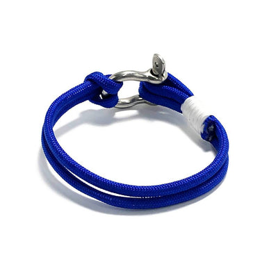 Royal Blue Nautical Shackle Bracelet 029