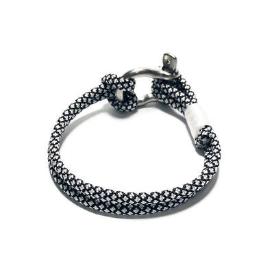 Nautical Silver Diamond Nautical Shackle Bracelet 167 Handmade sailor knot American Made in Mystic, CT $ 16.00