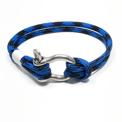 Black and Blue Nautical Shackle Bracelet 098