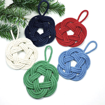 Nautical Knot Sailor Knot Christmas Ornament Custom in 17 colors handmade at Mystic Knotwork