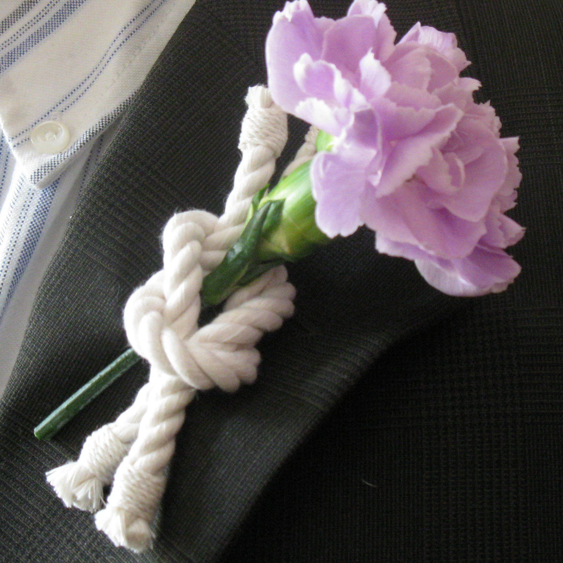 Nautical Reef Knot Boutonniere Handmade sailor knot American Made in Mystic, CT $ 4.00