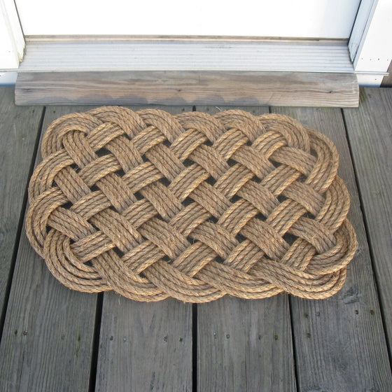 Woven Nautical Rug entry mat in manila rope