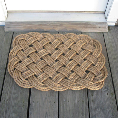 Nautical Woven Nautical Entry Rug, Square Door Mat Handmade sailor knot American Made in Mystic, CT $ 150.00