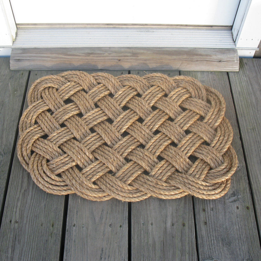 Woven Nautical Entry Rug Square Door Mat - Mystic Knotwork nautical knot & Nautical Door Mats u0026 Door Stops - Mystic Knotwork