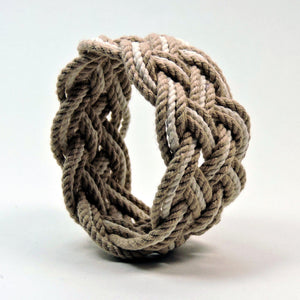 Wide Striped Sailor Knot Bracelet - Mystic Knotwork  - 14