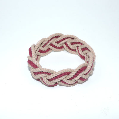 Nautical Striped Sailor Bracelet, Various Burgundy - New! Handmade sailor knot American Made in Mystic, CT $ 6.00