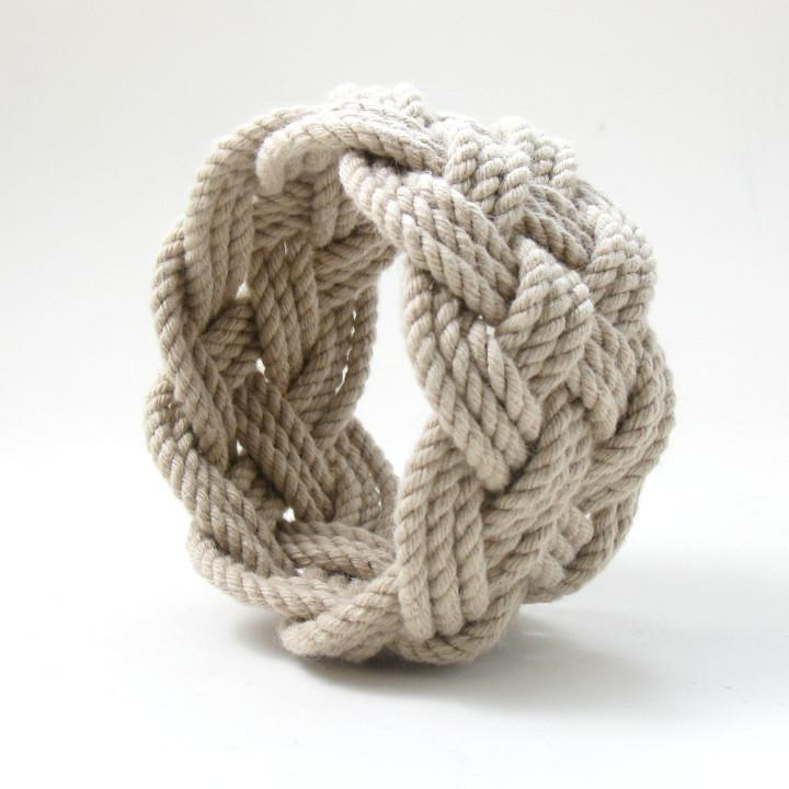 Nautical Wide Sailor Knot Bracelet Handmade sailor knot American Made in Mystic, CT $ 12.00