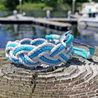 Turquoise Nautical Anchor Bracelet Stainless Steel 016