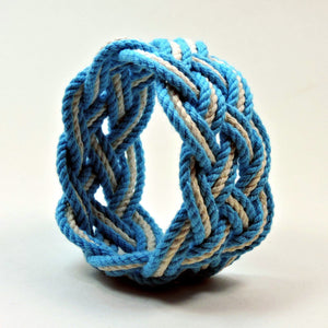 Wide Striped Sailor Knot Bracelet - Mystic Knotwork  - 15