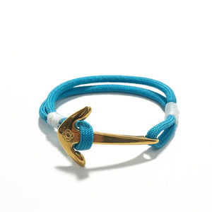 Turquoise Nautical Anchor Bracelet Brass 016