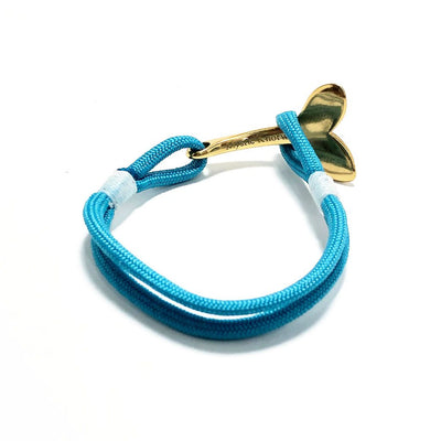 Turquoise Nautical Whale Tail Bracelet Brass 016