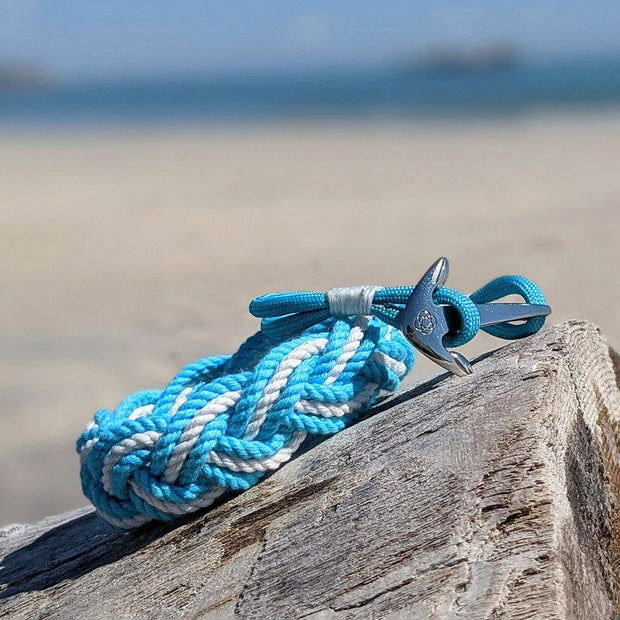 Turquoise Nautical Anchor Bracelet Stainless Steel 016 1
