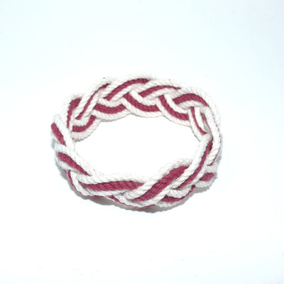 Nautical Knot Striped Sailor Bracelet, Various Burgundy - New! handmade at Mystic Knotwork