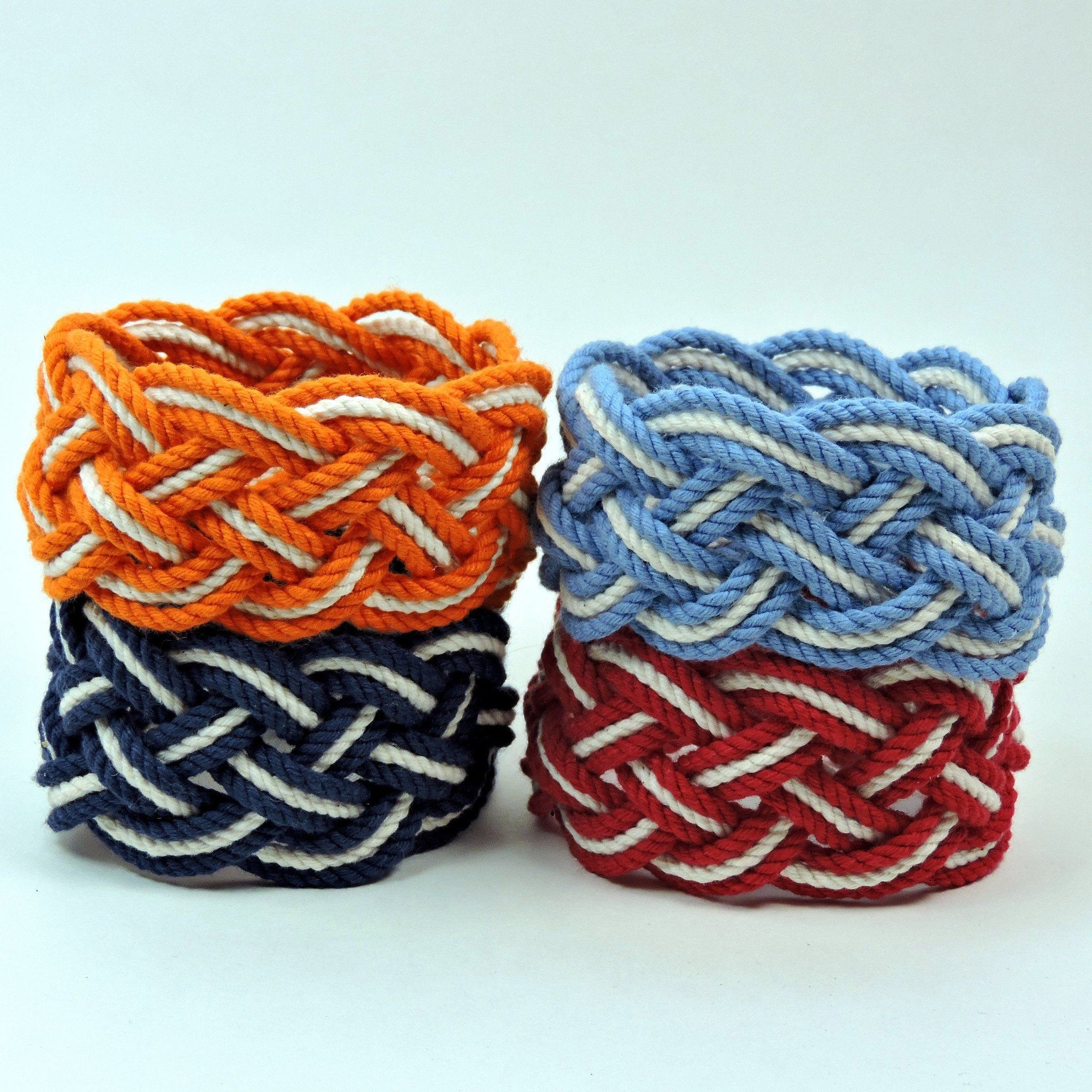 Nautical Wide Striped Sailor Knot Bracelet Handmade sailor knot American Made in Mystic, CT $ 14.00