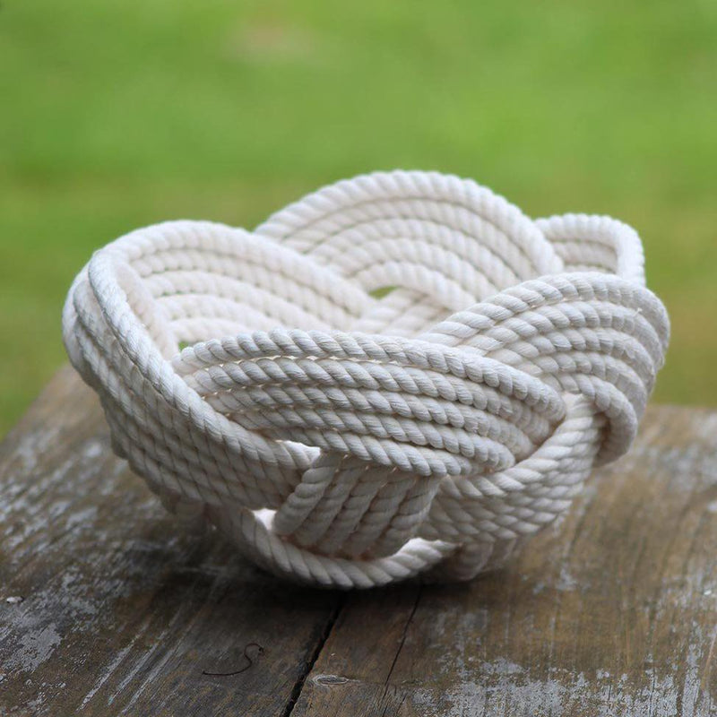 Celtic Knot Woven Cotton Bowl