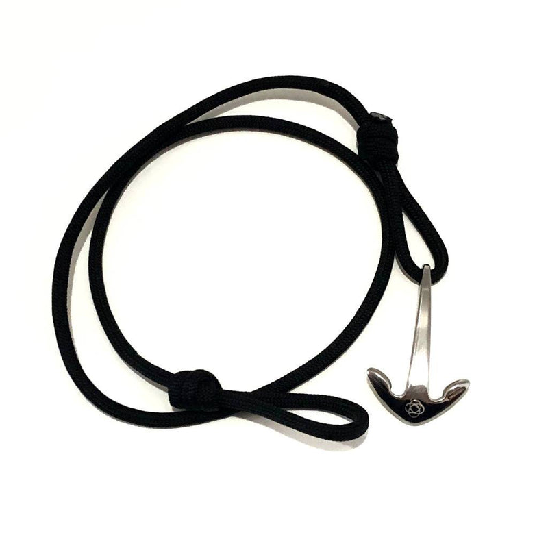 Black Adjustable Anchor Wrap Use as a Bracelet,Anklet,or Necklace 020