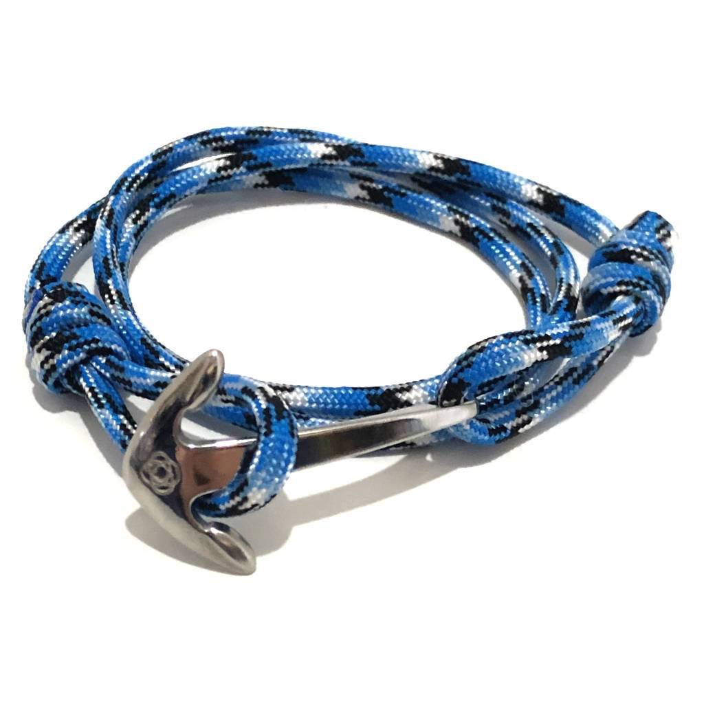 Blue Ice Adjustable Anchor Wrap Use as a Bracelet, Anklet, or Necklace 074