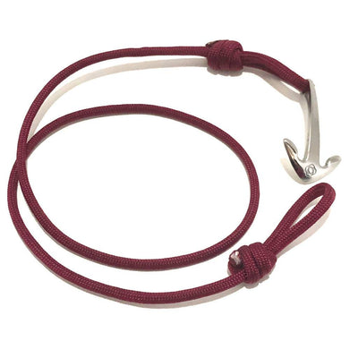 Burgundy Adjustable Anchor Wrap Use as a Bracelet,Anklet,or Necklace 022