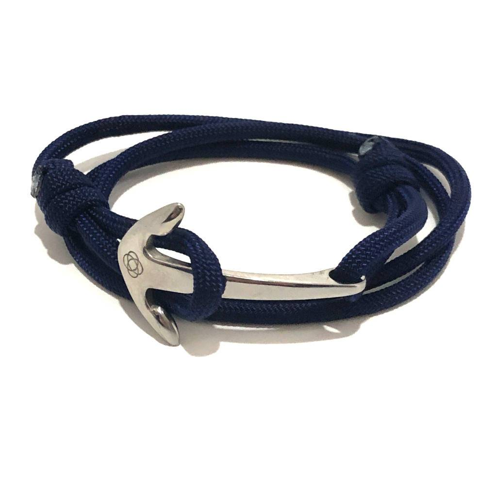 Navy Blue Adjustable Anchor Wrap Use as a Bracelet, Anklet, or Necklace 020