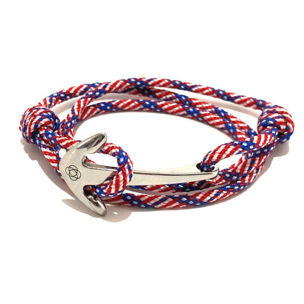 Patriotic Adjustable Anchor Wrap Use as a Bracelet, Anklet, or Necklace 187 1
