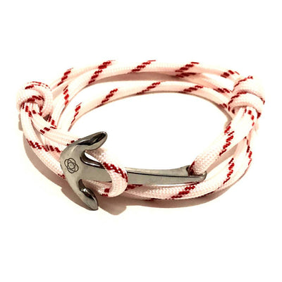 Red Stripe Adjustable Anchor Wrap Use as a Bracelet,Anklet,or Necklace 028