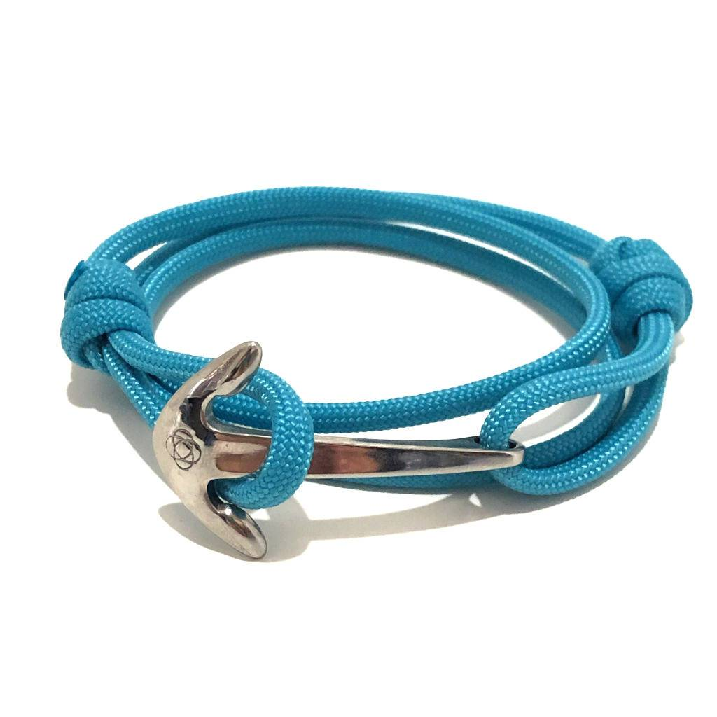 Turquoise Adjustable Anchor Wrap Use as a Bracelet, Anklet, or Necklace 016