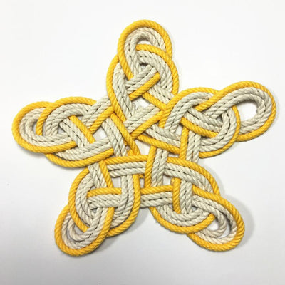 Nautical Nautical Woven Star, Cotton Knot for Christmas Tree Topper or Home Decoration Handmade sailor knot American Made in Mystic, CT $ 20.00
