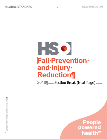 Fall Prevention and Injury Reduction - HSO 5060:2018(E)