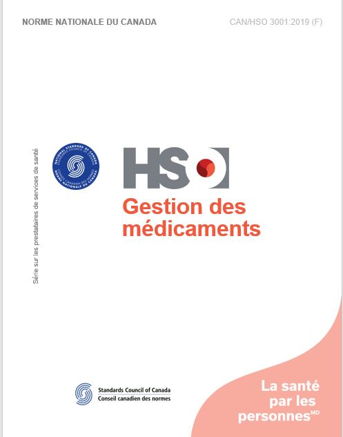 Gestion des médicaments - CAN/HSO 3001:2019 (F)