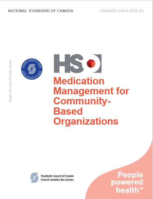 Gestion des médicaments pour les organismes extra-hospitaliers- CAN/HSO 34014:2019 (F)