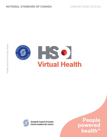 Virtual Health - CAN/HSO 83001:2018 (E)