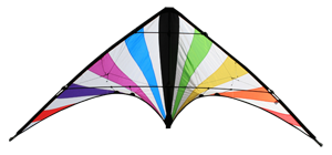 SkyDog Jammin' stunt kite in White